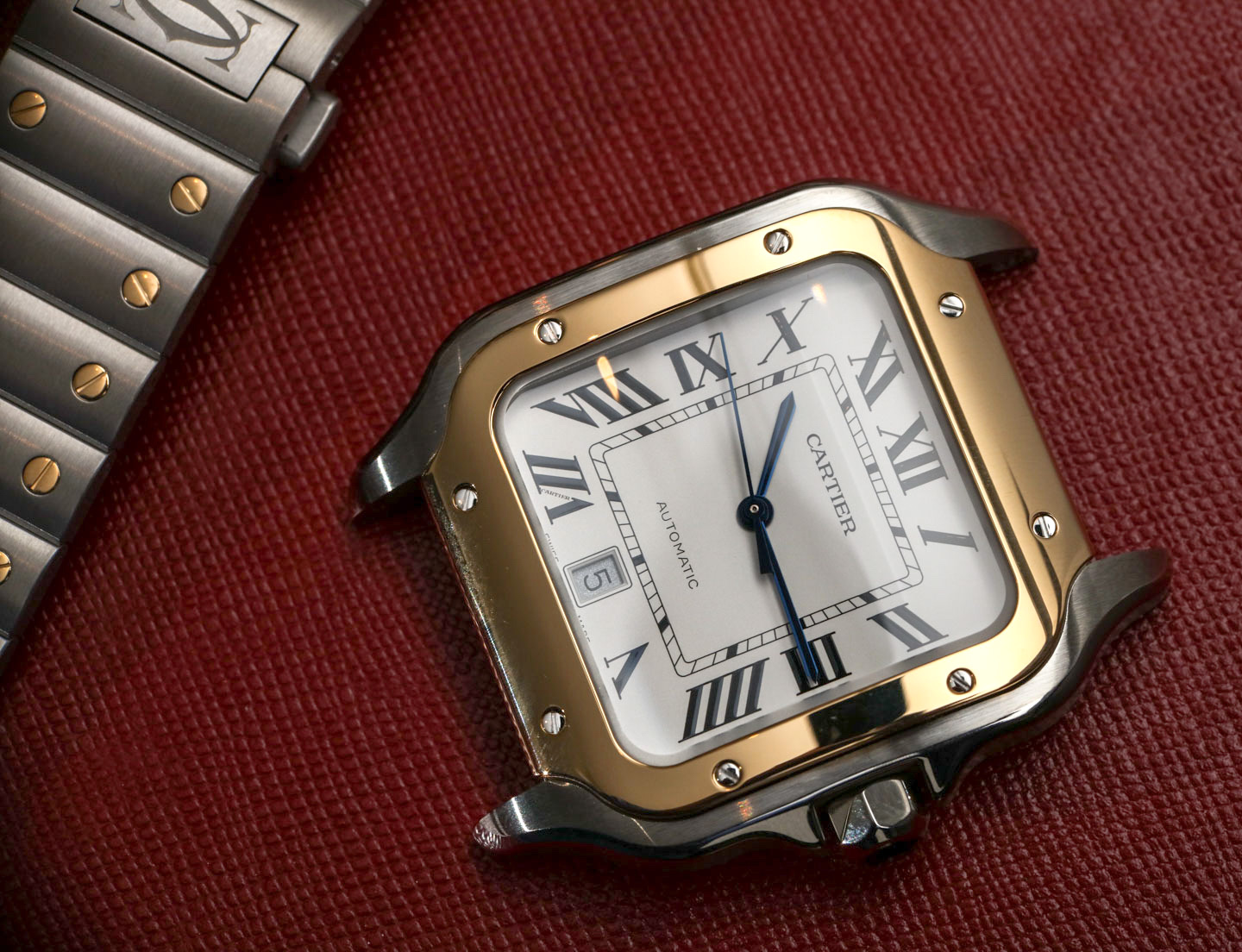 model santos medium watch p watches cartier